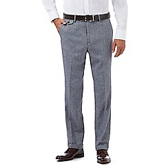 Hammond & Co. by Patrick Grant - Grey herringbone textured trousers