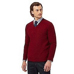 Hammond & Co. by Patrick Grant - Big and tall dark red lambswool rich jumper