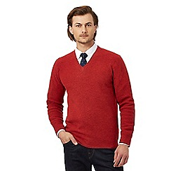 Hammond & Co. by Patrick Grant - Big and tall red lambswool rich jumper