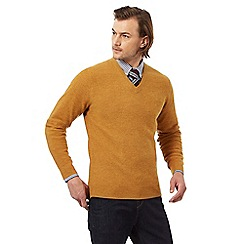 Hammond & Co. by Patrick Grant - Big and tall dark yellow wool rich jumper