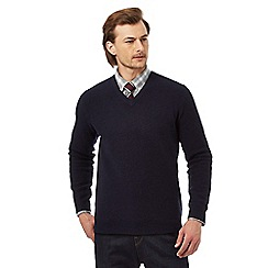 Hammond & Co. by Patrick Grant - Navy lambswool rich jumper