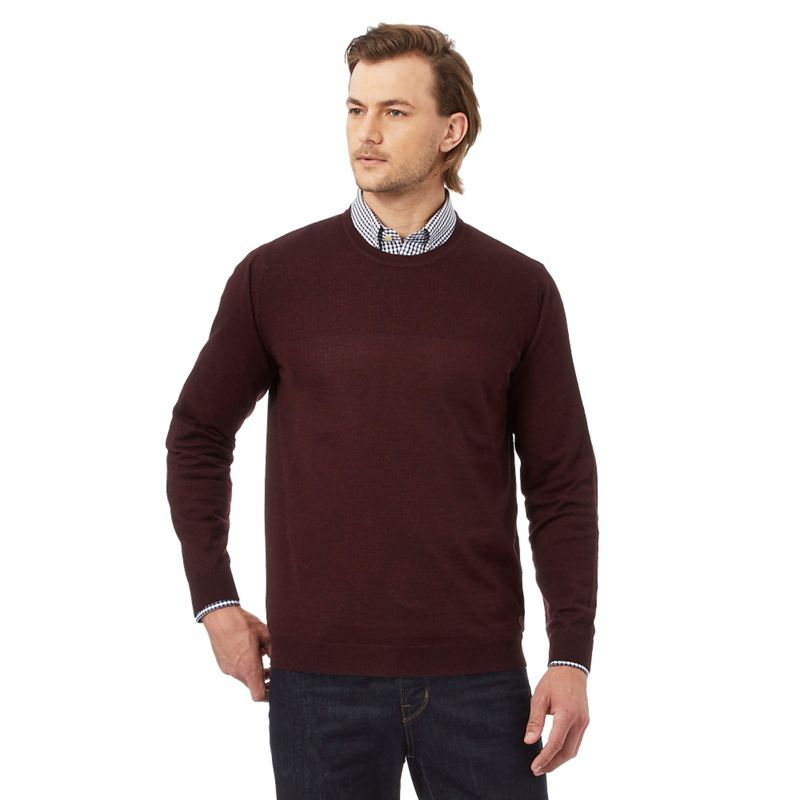 Hammond and Co. by Patrick Grant Dark Red Rich Merino Wool