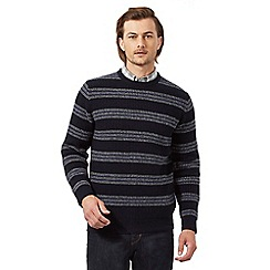 Hammond & Co. by Patrick Grant - Navy striped rich lambswool textured jumper