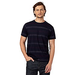 Hammond & Co. by Patrick Grant - Big and tall navy textured striped t-shirt