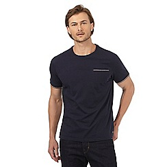 Hammond & Co. by Patrick Grant - Navy tipped crew neck t-shirt