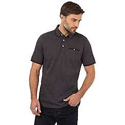 Hammond & Co. by Patrick Grant - Big and tall navy textured dot polo shirt