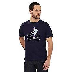 Hammond & Co. by Patrick Grant - Big and tall navy bike rider print t-shirt