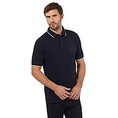 Hammond & Co. by Patrick Grant - Big and tall navy embroidered crest polo shirt
