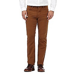 Hammond & Co. by Patrick Grant - Big and tall tan moleskin tailored fit trousers