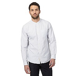 Hammond & Co. by Patrick Grant - Big and tall white textured grandad collar shirt