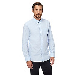 Hammond & Co. by Patrick Grant - Light blue puppytooth long sleeved shirt