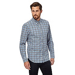 Hammond & Co. by Patrick Grant - Big and tall blue checked long sleeved shirt