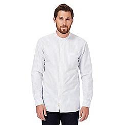 Hammond & Co. by Patrick Grant - White striped print granddad shirt
