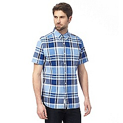 Hammond & Co. by Patrick Grant - Blue checked linen blend shirt