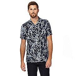 Hammond & Co. by Patrick Grant - Blue bamboo print shirt