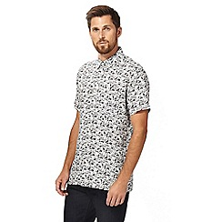 Hammond & Co. by Patrick Grant - White and black volcano print shirt