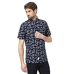 Hammond & Co. by Patrick Grant - Navy pineapple print shirt