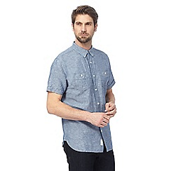Hammond & Co. by Patrick Grant - Big and tall navy linen blend shirt