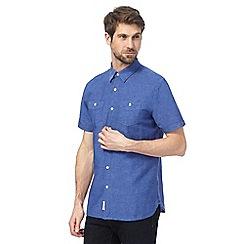 Hammond & Co. by Patrick Grant - Blue linen blend shirt