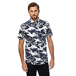 Hammond & Co. by Patrick Grant - Blue stork print shirt
