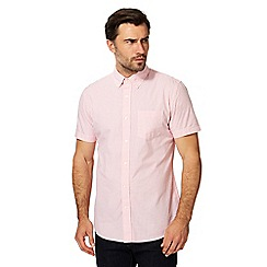 Hammond & Co. by Patrick Grant - Big and tall light pink gingham print shirt