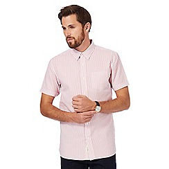 Hammond & Co. by Patrick Grant - Big and tall pink seersucker short sleeve shirt