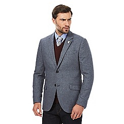 Hammond & Co. by Patrick Grant - Blue houndstooth blazer jacket with wool