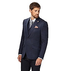Hammond & Co. by Patrick Grant - Big and tall navy single-breasted blazerá