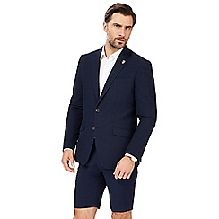 Hammond & Co. by Patrick Grant - Big and tall navy textured blazer
