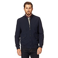Hammond & Co. by Patrick Grant - Big and tall navy seersucker bomber jacket