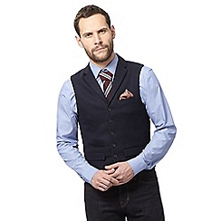 Hammond & Co. by Patrick Grant - Navy basketweave waistcoat