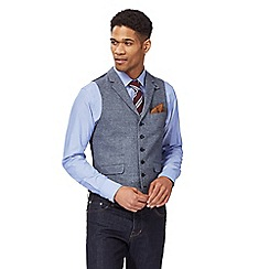 Hammond & Co. by Patrick Grant - Big and tall blue textured waistcoat