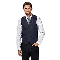 Hammond & Co. by Patrick Grant - Big and tall navy herringbone waistcoat