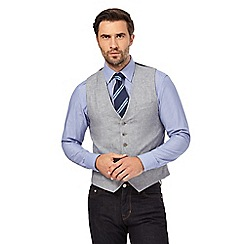 Hammond & Co. by Patrick Grant - Grey sharkskin waistcoat with linen
