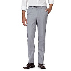Hammond & Co. by Patrick Grant - Blue textured tailored fit trousers