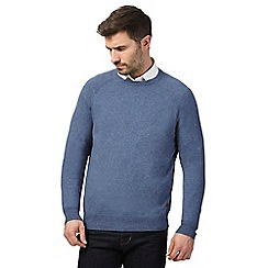 Hammond & Co. by Patrick Grant - Big and tall blue crew neck jumper with wool