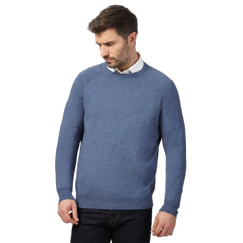 Hammond and Co. by Patrick Grant Blue Crew Neck Jumper With