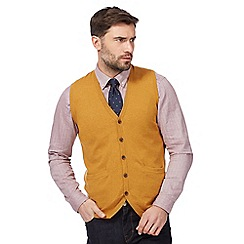 Hammond & Co. by Patrick Grant - Big and tall dark yellow button through tank top