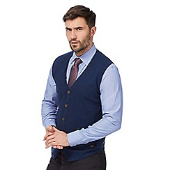 Hammond & Co. by Patrick Grant - Big and tall navy button through tank top