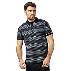 Hammond & Co. by Patrick Grant - Navy striped polo shirt
