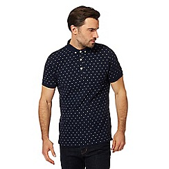 Hammond & Co. by Patrick Grant - Navy floral embroidered polo shirt