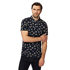 Hammond & Co. by Patrick Grant - Big and tall navy circle print polo shirt
