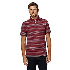 Hammond & Co. by Patrick Grant - Big and tall red striped polo shirt