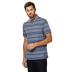 Hammond & Co. by Patrick Grant - Blue striped polo shirt