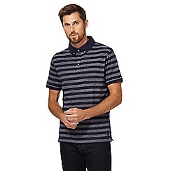Hammond & Co. by Patrick Grant - Big and tall navy striped polo shirt