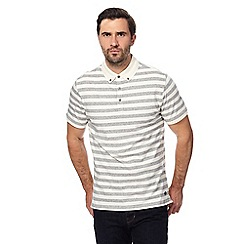 Hammond & Co. by Patrick Grant - Off white block striped polo shirt