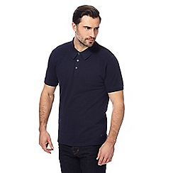 Hammond & Co. by Patrick Grant - Big and tall navy textured striped polo shirt