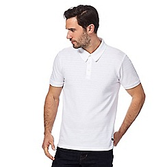 Hammond & Co. by Patrick Grant - White textured striped polo shirt
