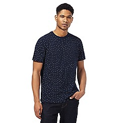 Hammond & Co. by Patrick Grant - Big and tall navy patterned crew neck t-shirt