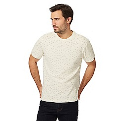 Hammond & Co. by Patrick Grant - Big and tall cream patterned crew neck t-shirt